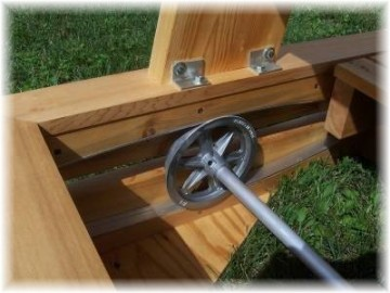 Enhance The Beauty Of Your Back Yard Or Patio With One Of Our Glider Swings.  Made Of Northern White Cedar.
