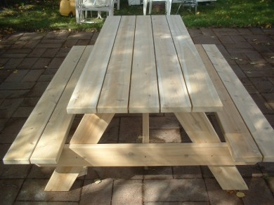 Cedar Picnic Tables - Free Shipping