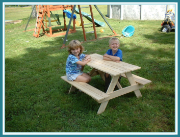 children's cedar picnic table