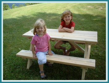 Kids Cedar Picnic Table