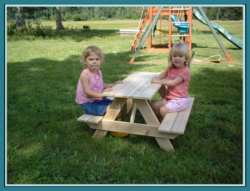 toddler cedar picnic table